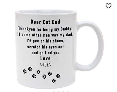 DAD CAT MUG PERSONALISED With Photo And Name