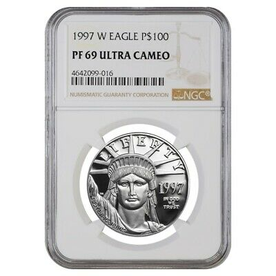 1997 W 1 oz $100 Platinum American Eagle Proof Coin NGC PF 69 UCAM
