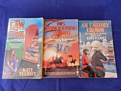 Lot Of 3 Kate Elliott Books Crown Of Stars Series Paperback Daw