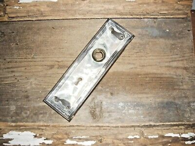 Vtg Antique Old Shabby Chippy Mission Raised Edge Door Knob Back Plate Art/craft