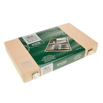 Winsor & Newton Winton Oil Colour Wooden Box Set | 12 Paints | 21 ml Tubes