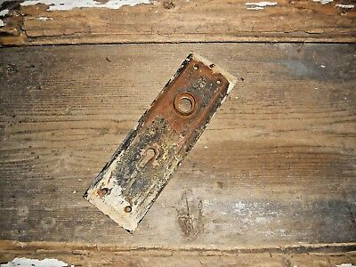 Vtg Old Antique Shabby Chippy Rustic Door Knob Back Plate Arts/crafts Pinterest