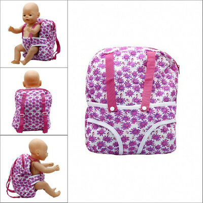18 Inch Pink Toy Backpack Sunflower Accessories for American Girl Baby Doll Bags