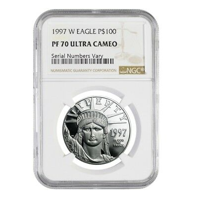 1997 W 1 oz $100 Platinum American Eagle Proof Coin NGC PF 70 UCAM