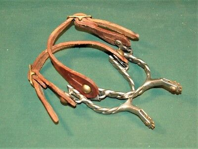 Cowboy Spurs Rope Twist Nice Condition