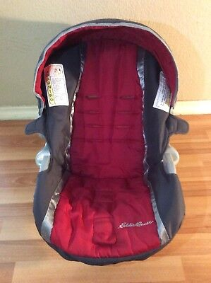 Eddie Bauer Baby Car Seat Cover Cushion Canopy Set Replacement Red Gray Silver