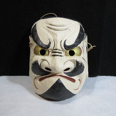 Vintage Hand Painted and Signed Oriental Asian Opera Drama Mask VERY RARE !