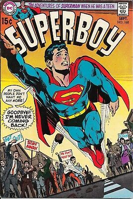 Superboy #168 (09/70) (DC) LOW-MID GRADE Complete but has light rust on staples!