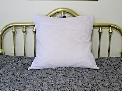 Antique Down Pillow with Damask Cover ~ Extra Large Soft Fluffy ~ Red Tick