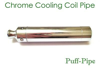 Metal Smoking Pipe Chillum One Hitter Silver Brass Bud Bomb Bat