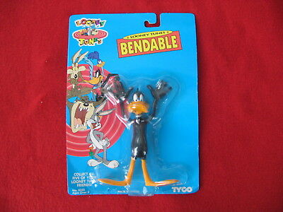 "Looney Tunes Daffy Duck Bendable 6"" Action Figure by Tyco NIP"
