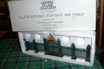 Dept 56 Village Wrought Iron Gate And Fence #55140 Heritage Village Retired Nib