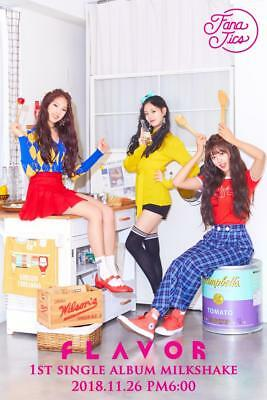 FLAVOR [MILKSHAKE] 1st Single Album CD+POSTER+Photo Book+2p Card K-POP SEALED