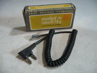 Honeywell Coiled Cord Household To Leica iii F & G Flash 3' Sync Cord In Box #7