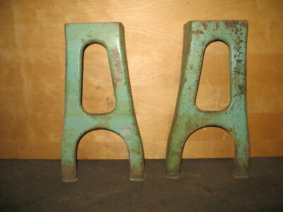 Pair of Beautiful Vintage Cast Iron Table Stands Legs Used