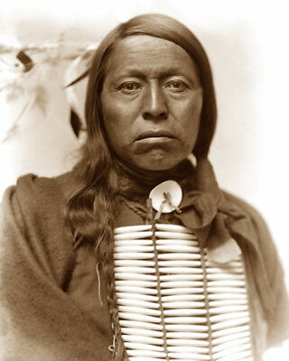 FLYING HAWK (breast plate) 1898 SIOUX NATIVE AMERICAN SEPIA PHOTO