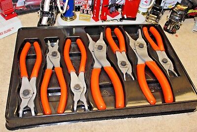Snap On Soft Handle Retaining / Snap Ring Pliers 7 Pcs SRPC107O USA
