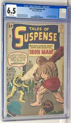 Tales Of Suspense #40 CGC 6.5 OW-PGS. Second Iron Man-Gold Armor. NO RESERVE!!!