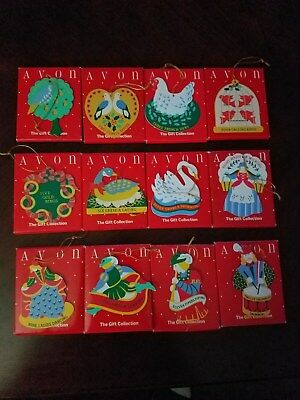 Avon The Gift Collection Twelve Days of Christmas Ornament Set of 12 with boxes