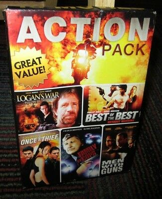 10-Movie Action Pack 2-Disc Dvd Set, Chuck Norris, Charles Bronson, Ving Rhames
