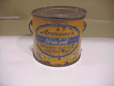 Armours Verybest Peanut Butter Tin 12Oz. Very Good Condition And Very Solid