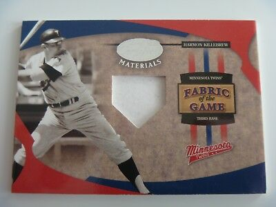 2005 Leaf Fabric of The Game 1/1 Pre-Production Proof SAMPLE Harmon Killebrew