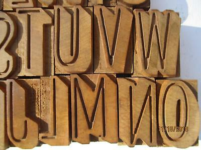 20  letterpress printing wood type letters  matching font not complete alphabet