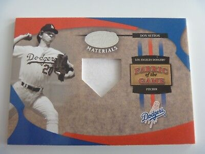2005 Leaf Fabric of The Game 1/1 Pre-Production Proof SAMPLE Don Sutton DODGERS