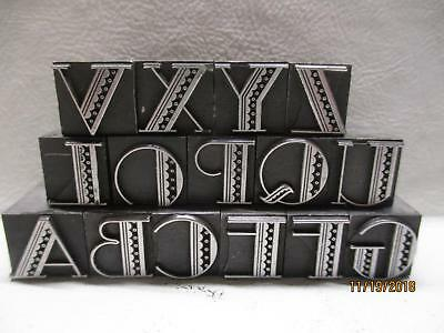 15 letterpress printing metal type letters  matching font not complete alphabet