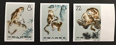 1963 China PR Stamps #713-715 S60 Gold-Haired Monkey  MNH Set of 3