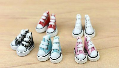 1Pair 3.5cm Canva Shoes For Blythe Dolls Causal Shoes For Barbie Doll Mini Shoes