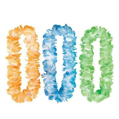 Hawaiian Mahalo Assorted Coloured Leis 1m - Costume / Accessories 310143