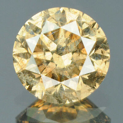 0.65 cts BUY! CERTIFIED Round Cut Golden Brown Color Loose Natural Diamond 11229