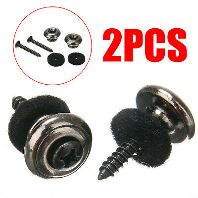2pcs Mushrooms Heads Straplocks Electric Acoustic Guitar Bass Strap Locks Button