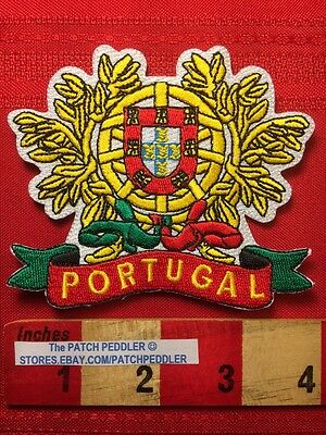 PORTUGAL Royal Coat Of Arms Jacket Patch Travel Souvenir Shield Emblem Crest 5DS