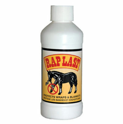 Rap Last with Sprayer 8 oz Prevents Horses Equine from Chewing Blankets Wraps
