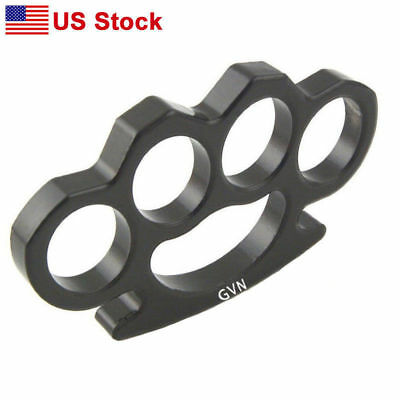Black Tactical Knuckles Survival Multi-functional Self Defense Four Rings Tools