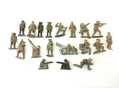 Mixed Antique Lot World War I WWI Barclay Manoil Lead Steel Soldiers Figures Toy