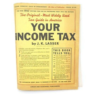 Vintage 1943 Your Income Tax Book & Additional Booklets