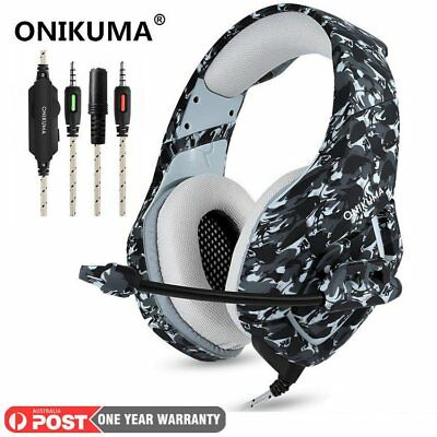 3.5mm ONIKUMA K1 Mic Stereo Gaming Headset Headphone for PC Laptop PS4 Xbox One