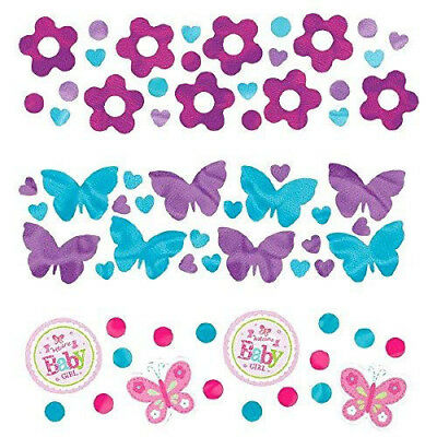 Amscan Welcome Baby Girl 3 Pack Value Confetti 34g