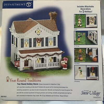 Dept 56 Snow Village® YEAR ROUND HOLIDAY HOUSE -  BRAND NEW SEALED