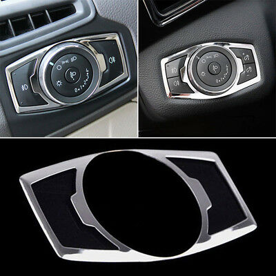 Fit For Ford Kuga 13-18 Chrome Fog Head Light Switch Button Control Cover Trim