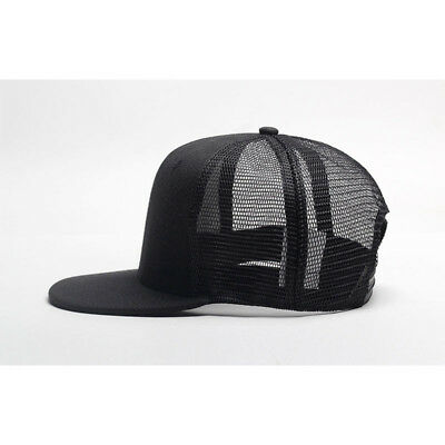 613e56e32b593 Trucker Hat Mesh Snapback Plain Baseball Cap Adjustable Flat Blank Men Caps  Hats