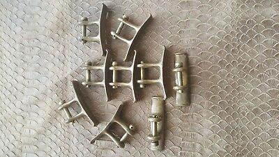 4 X Vintage Solid Brass Rigging Sailing Sail Boat Yacht Maritime