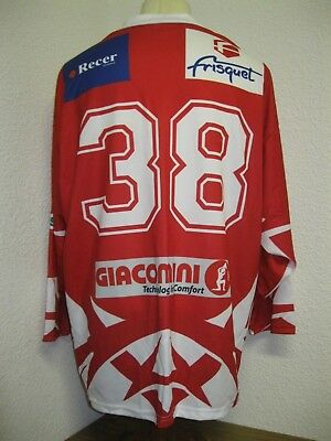 Ancien MAILLOT ROOSTER HOCKEY sur GLACE #38 Club Français ? Jersey Chandail TL