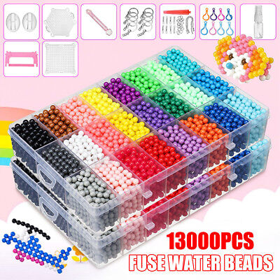 Colorful Aqua Refill Fuse Water Bead Sticky Pegboard DIY Craft Art Kids Toy Gift