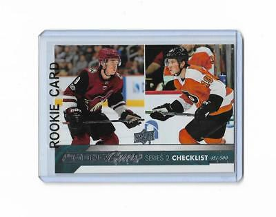 2017-18 Upper Deck Series 2 Checklist Young Guns Rookie Keller Patrick #500