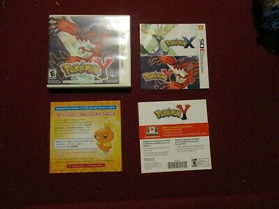 Pokemon Y Nintendo 3DS Empty Case ONLY (no manual or game)