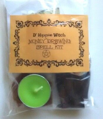 Wicca *MONEY DRAWING SPELL KIT* Witch Spell Kit Rituals Magic Pagan Ritual